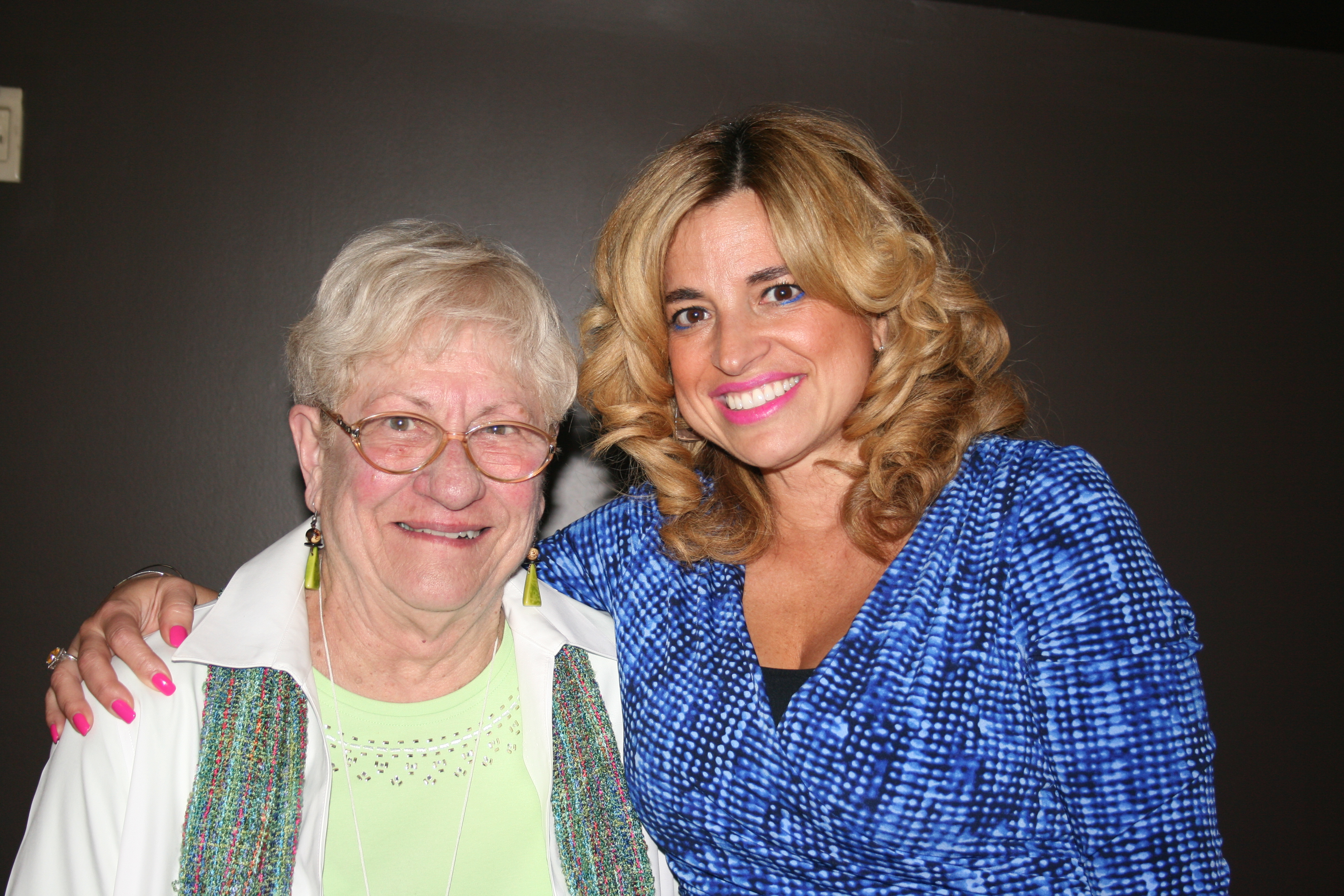 Marg, a long-time volunteer at the Stedman Hospice, with Olga.